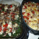 The finished two vegetable lasagnas