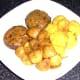 Plated potatoes and cauliflower