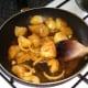 Sauteing potatoes and onion
