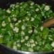 stir-frying okra