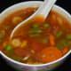 Enjoy your Szechwan soup with stir-fried vegetables.