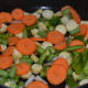 Add diced veggies to the pan.