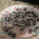 Blueberries dusted with flour.
