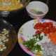 Step two: Keep the ingredients ready, and start making the chaat.