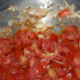 Step three: Throw in chopped tomatoes. Stir-cook for 4 to 5 minutes or till they are soft.