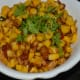 Crunchy and yummy sweet corn stir-fry is ready to eat! Garnish with finely chopped coriander leaves. Enjoy!