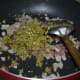 Step four: Add green chili-garlic-ginger paste. Saute for 1 minute. You will get a nice aroma from these spices.
