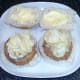 Salt and vinegar crisps on smoked haddock fishcakes