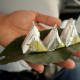 paan being served coated with silver foil