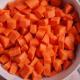 carrots, diced