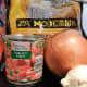 Fideo ingredients.