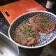 seasoned lamb on a plate