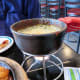 Fondue-style mozzarella cheese accompaniment to dak-galbi