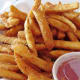French fries in take-home container. Don't they look good!