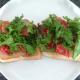 Chorizo salad on toast