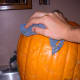 Wash the squashes or pumpkins with a nice scrubbing cloth and tap water. You may use a bit of soap if they are filthy; rinse thoroughly.