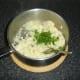 Stir parsley and garlic through the mash