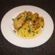 Roast chicken, roast potatoes and sweetcorn