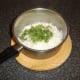 Coriander/cilantro and garlic are stirred through the rice