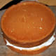 Take a small round cake (mine is 6 inches in diameter) and use some of the buttercream to fill.