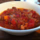 Crockpot lentil and ham soup is served!
