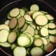 Saute the zucchini slices