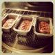 In loaf pans.