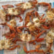 Drain and place crabs on a newspaper-covered table.  Time to pick some crabs!