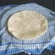Wraps are heated one by one and kept moist in a warm, damp tea towel.