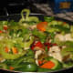 All the peppers and chicken mixed together simmering for mixing flavors.