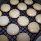 Allow the glazed cookies to dry before serving.