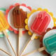 There are endless embellishment options for cupcake toppers.
