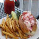 My wife's lobster roll at Taste of Maine
