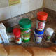 Seasonings and spices needed for homemade croutons.