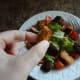 Crunchy crouton piece