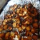 Take out the croutons when they are crispy and browned.