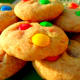 Our delicious M&M cookies made from scratch.