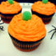 Our finished pumpkin cupcakes.