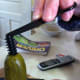 Insert the spiral tool into the top of the pickle.
