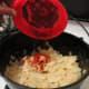Adding the Paprika, Basil, Thyme, Oregano and Garlic Spice Mix.