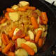 Add the Carrots with the Potatoes and stir lightly.