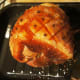 Cover the gammon with the glaze, roast for 35-40 mins