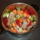 Duck stock solid ingredients and seasonings