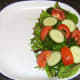 Side salad is plated