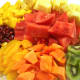 Chopped tropical fruits