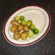 Dill buttered potatoes and sprouts are plated