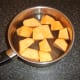 Sweet potato ready for boiling