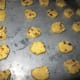 Place sliced dough on cookie sheet and bake.