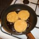 Shallow frying salmon cakes