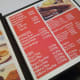 Le menu. Prices ranged from Php 50 (for starters) to Php 350 (main entrees).